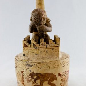 UCLA Fowler Museum Collection: X88.802 Moche vessel front view