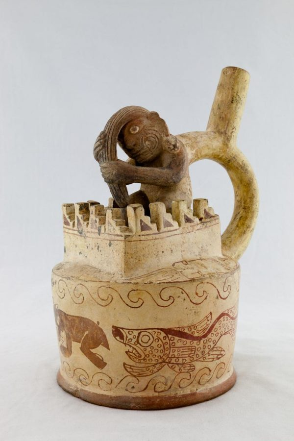 UCLA Fowler Museum Collection: X88.802 Moche vessel right angle view