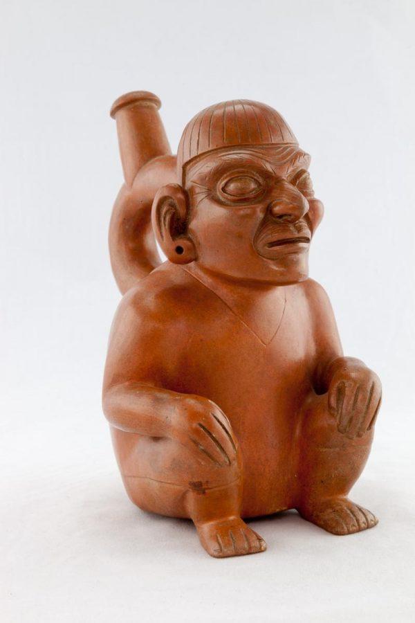 UCLA Fowler Museum Collection: X88.805 Moche vessel left angle view