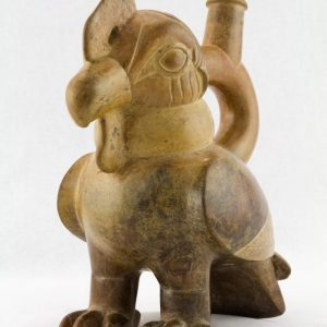 UCLA Fowler Museum Collection: X88.806 Moche vessel left angle view