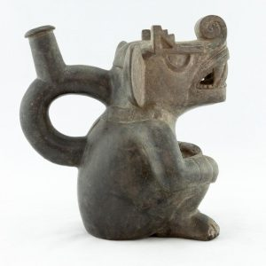 UCLA Fowler Museum Collection: X88.809 Moche vessel left view