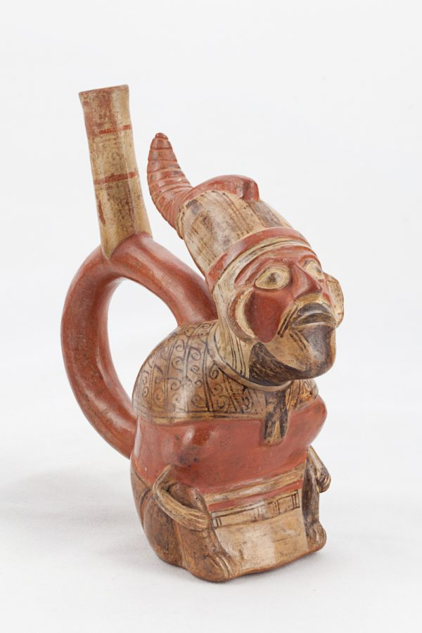UCLA Fowler Museum Collection: X88.818 Lambayeque vessel angle view