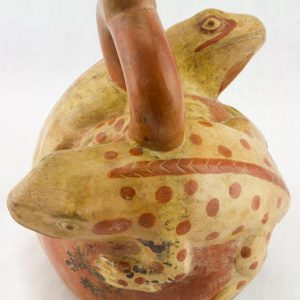 UCLA Fowler Museum Collection: X88.820 Moche vessel back detailed view