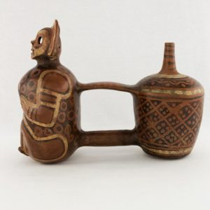UCLA Fowler Museum Collection: X88.837 Vicus vessel left view