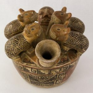 UCLA Fowler Museum Collection: X88.842 Recuay vessel top view