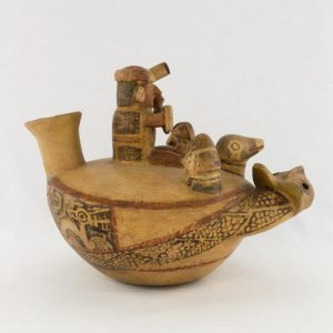UCLA Fowler Museum Collection: X88.846 Recuay vessel right view