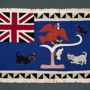 UCLA Fowler Museum Collection: X89.422 Asafo flag front view