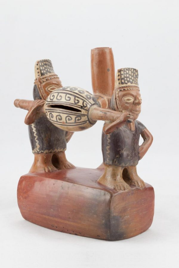 UCLA Fowler Museum Collection: X90.476 Chimu Inca vessel angle view