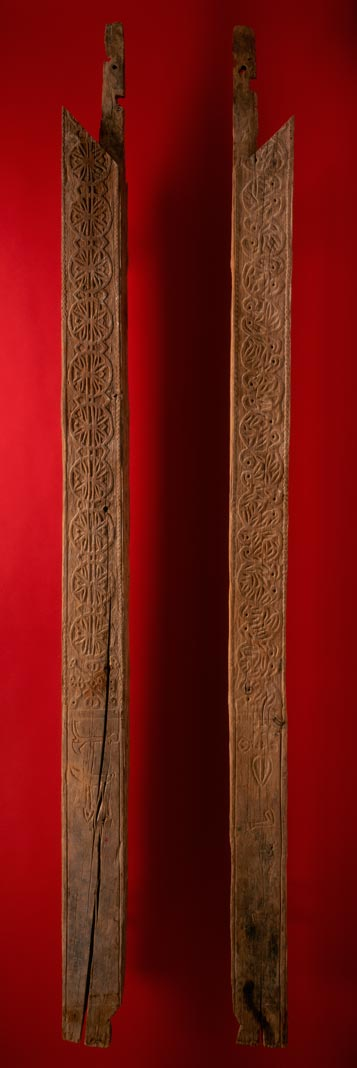 UCLA Fowler Museum Collection: X90.180a,b Door posts