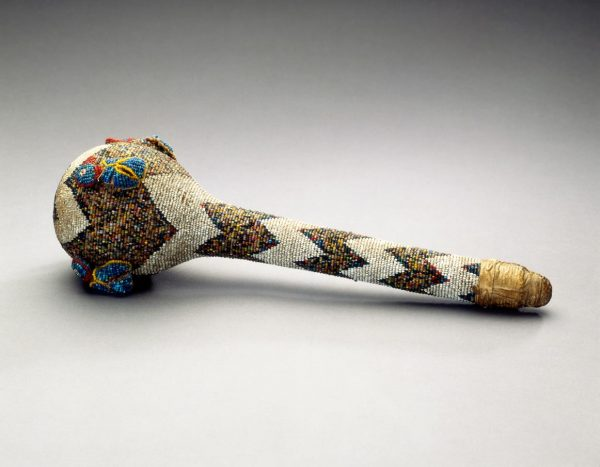 UCLA Fowler Museum Collection: X90.422 Beaded gourd rattle