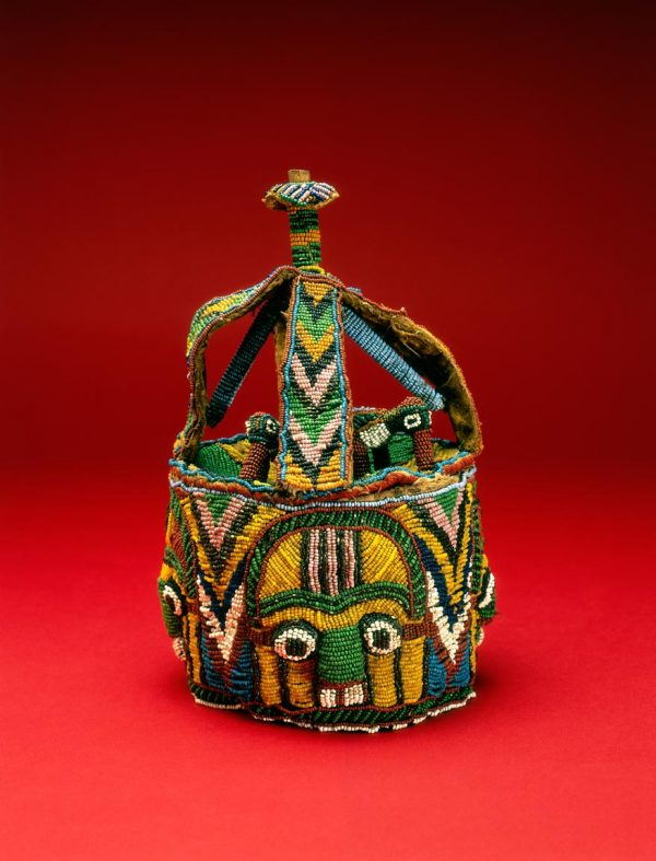 UCLA Fowler Museum Collection: X90.700 Beaded container lid