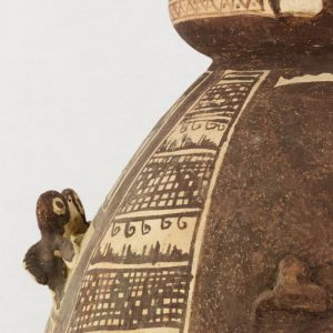 UCLA Fowler Museum Collection: X91.78 Chancay vessel detailed top view