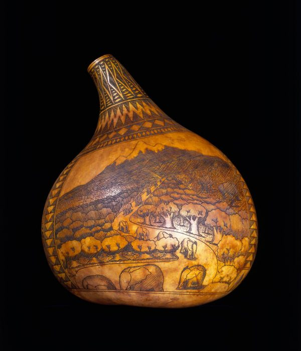 UCLA Fowler Museum Collection: X91.579 Pyroengraved Gourd