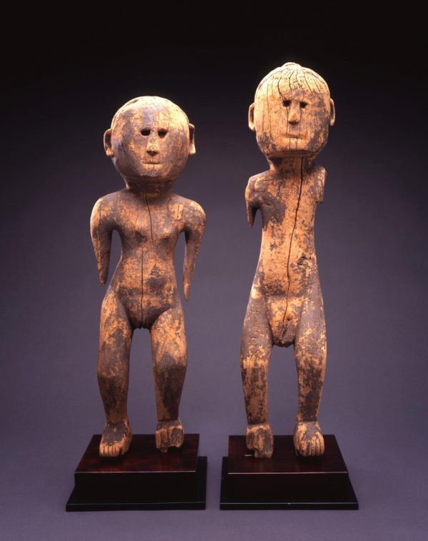 UCLA Fowler Museum Collection: X91.613a,b Ancestor figures