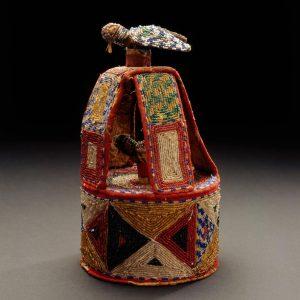 UCLA Fowler Museum Collection: X92.162a,b Beaded Ile ori