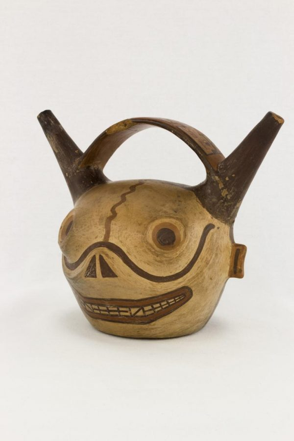 UCLA Fowler Museum Collection: X94.33.1 Wari vessel angle view