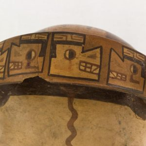 UCLA Fowler Museum Collection: X94.33.1 Wari vessel detailed zoom view