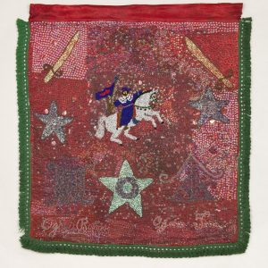 UCLA Fowler Museum Collection: X94.35.1ab Flags (drapo Vodou) for Sen Jak and Danbala front view