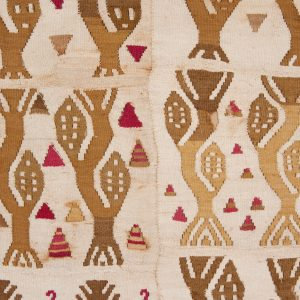 UCLA Fowler Museum Collection: X94.27.6 Panel or tunic with corn plants detailed zoom view
