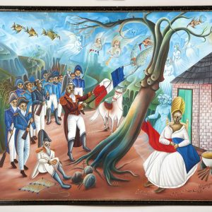 UCLA Fowler Museum Collection: X95.22.5 Dessalines Ripping the White from the Flag front view