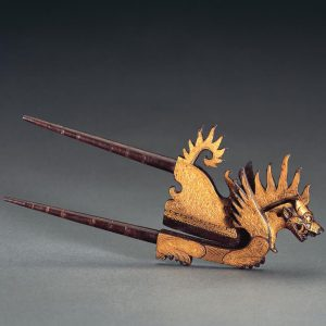 UCLA Fowler Museum Collection: X95.38.177 Areca nut cutter (kacip) in the form of a mythical lion (singha) front view