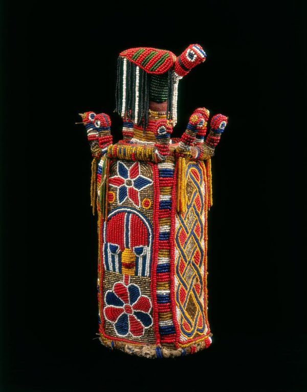 UCLA Fowler Museum Collection: X95.25.2a Beaded bottle