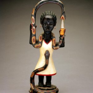 UCLA Fowler Museum Collection: X95.43.5 Sculpture of Woman with Snakes