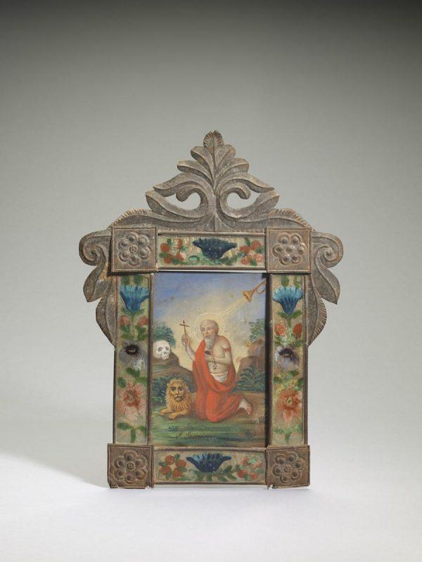 UCLA Fowler Museum Collection: X96.42.13 Retablo for Saint Jerome (San Jerónimo)