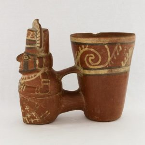 UCLA Fowler Museum Collection: X96.8.51 Tiwanacu vessel left view