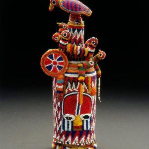 UCLA Fowler Museum Collection: X96.3.13 Beaded bottle container
