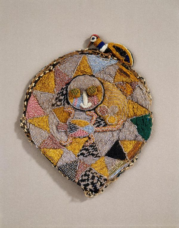 UCLA Fowler Museum Collection: X96.3.8 Beaded dog-eared cap