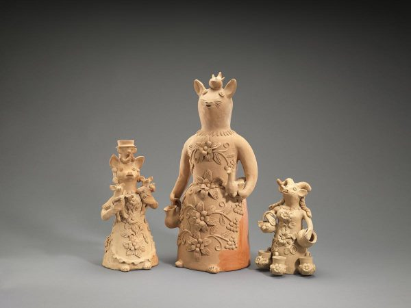 UCLA Fowler Museum Collection: X97.44.206, X97.44.209, X97.44.205 Three Figures