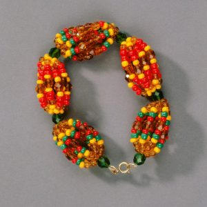 UCLA Fowler Museum Collection: X97.38.2 Beaded bracelet