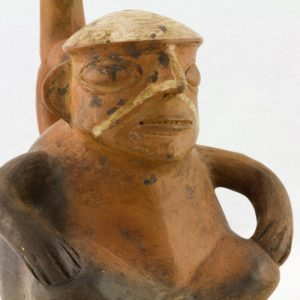 UCLA Fowler Museum Collection: X99.49.2 Moche vessel detailed view
