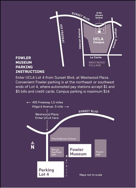 UCLA Fowler Museum Parking Map