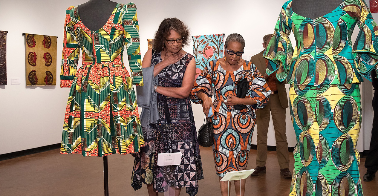 Dresses made out of African Textile